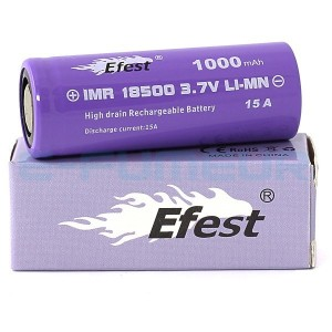 EFEST PURPLE 18500 1000MAH FLAT TOP